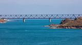 a big bridge on the sea, Kazakhstan, Kapchagai