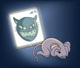 scared rat draw