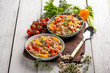 salad with tuna cannellini beans pepper and tomatoes