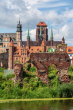 City view of Gdansk, Poland, St. Mary's Church.