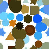 Seamless background abstract geometric mixed pattern for design. Rectangle, vector, canvas & art. - 219170235
