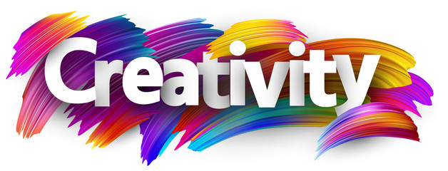 Creativity banner with colorful brush strokes. © Vjom