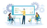 Vector illustration concept of product development. Creative flat design for web banner, marketing material, business presentation. - 219199287