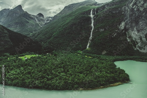Norweski lodowaty krajobraz