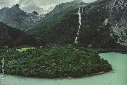 Foto Murales Norwegian Glacial Landscape