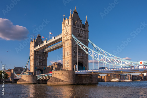 London Tower Bridge from a Low Angle