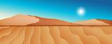 Dry desert landscape scene - 219217681