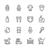 Baby icons with White Background
