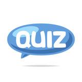 Quiz balloon label vector  - 219242271