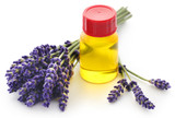 Lavender oil with flower