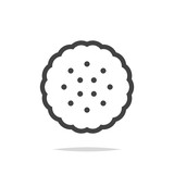 Cracker biscuit icon vector - 219265067