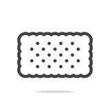 Rectangle cracker biscuit icon vector - 219265603