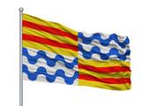Sejong City Flag On Flagpole, Country South Korea, Isolated On White Background - 219274820