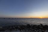 Öresund bridge at the evening with sunset