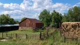 Nice old barn with clouds - 219285679