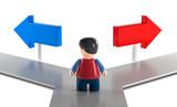 3D Figur Richtung Entscheidung als Freisteller - 219287680