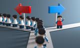 3D Weg eigne Entscheidungsfreiheit - 219288280
