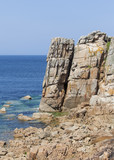 rocky coast in brittany