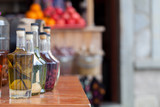 Homemade liqueur with fruits and alcohol - 219303449