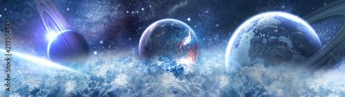 планеты в космосе - сатурн - 219304641