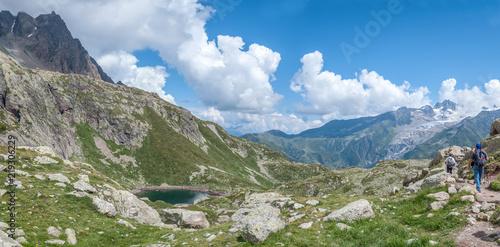 Lac des Chéserys dans la vallée de Chamonix
