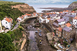 The North Yorkshire coastal villages of Staithes (right hand side)and Cowbar (left hand side). - 219324239