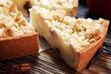 Apple pie or homemade cake with apples. Delicous dessert apple tart - 219327016