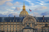 Facade of the Les Invalides museum in Paris, France - 219327080