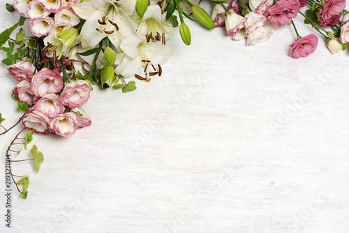 Fototapeta frame of beautiful flowers