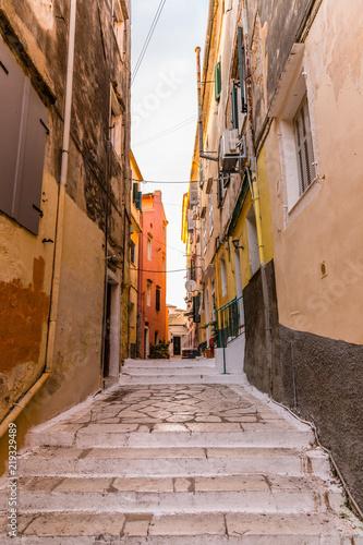 Fototapeta Old town in Corfu, Greece