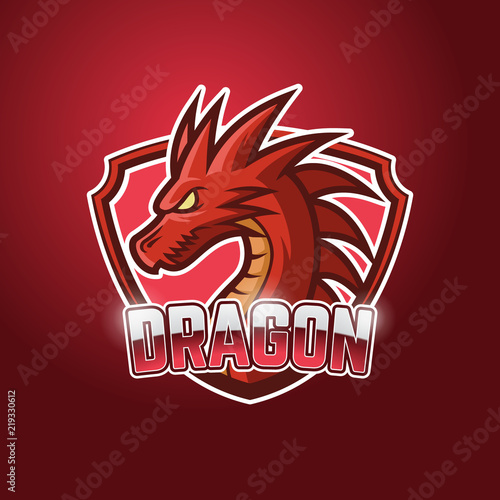 red dragon esports logo template buy photos ap images detailview