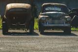 Old rusty retro cars