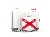 Luggage with flag of alabama. Three bags with united states local flags - 219365482