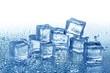 Leinwanddruck Bild - Ice Cubes