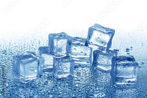 Leinwanddruck Bild Ice Cubes