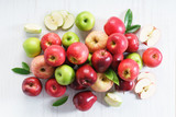 Fresh red and green apples - 219371688