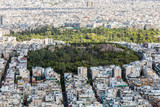 Aerial panoramic view of Athens city Greece and park, from Lycabettus hill - 219392202