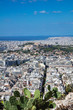 Panoramic aerial view of Acropolis in Athens Greece, view from Lycabettus hill