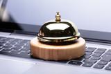 Close-up Of Golden Service Bell - 219401026