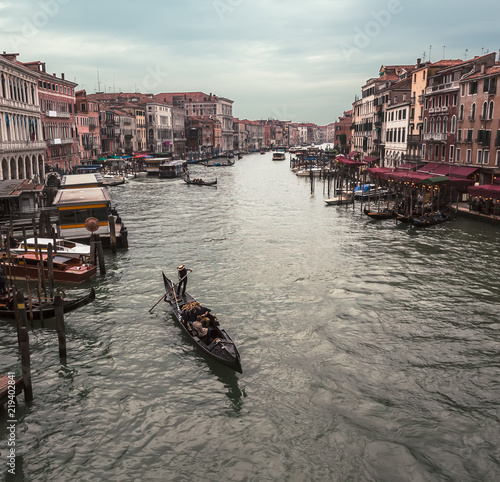 Foto Murales Grand canal in Venice, Italy