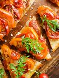 Tomato onion tartilla - 219407809