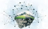 Concept of modern networking technologies and eco green construc - 219422282