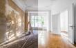 Leinwandbild Motiv renovation concept - apartment before and after restoration or refurbishment
