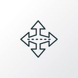 Crossroad icon line symbol. Premium quality isolated intersection element in trendy style. - 219428472