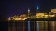 Leinwanddruck Bild - A city at night - Valletta, Malta