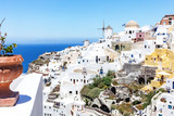 View at a sunny Oia, Santorini, Greece - 219464896