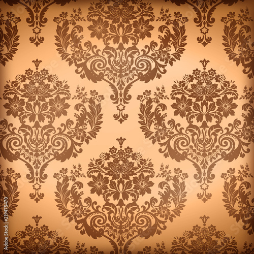 Louisiana Life New Orleans Culture Parchment Damask Wallpaper Background - 219475470