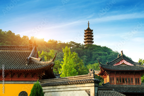 Foto Murales Temple and pagoda