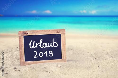 Leinwanddruck Bild Urlaubsplanung 2019