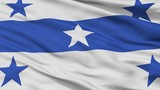Gambier Islands City Flag, Country French Polynesia, Closeup View - 219535835